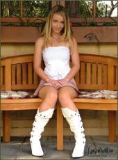 Melissa Leonard - Sitting on Bench