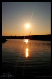 Amber Flowers - Sunset at Lake Cumberland Dam