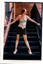 Kaleena - Kaleena on stairs