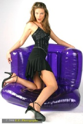 Regina Paterniti - Purple Upsidedown Chair