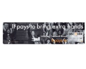 Lee Frederic - Discover Card print ad