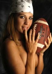 Kristin Malinsky - With Football