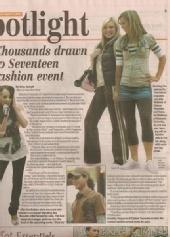 Juliana - Made the newspaper for the seventeen show!