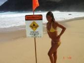 Marissa C - High Surf Advisory at Makapu'u, Honolulu Hawaii
