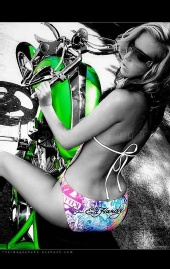 carolina model - biker shoot