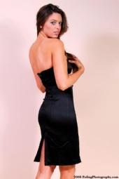 Heather Larson - black dress