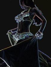 courtney sampson - skitch art belly dancer