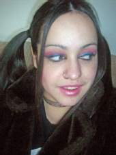 Anemic Royalty - Colorful make up, on a colorful individual.