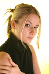 Jennifer - Hair tied back