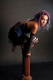 zauberin - stripey + corset