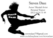 PERSONAL TRAINER - ACTOR - FIGHT CHOREOGRAPHER - Name Card