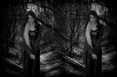 damedraculina - gothic twins black and white