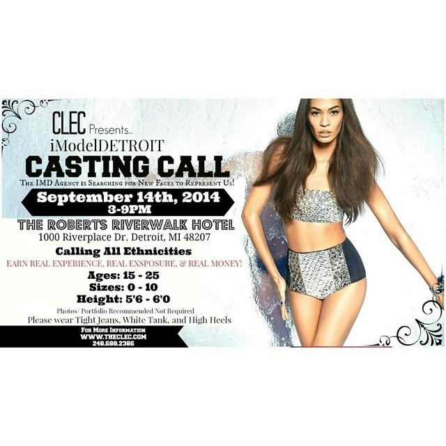 HB Models Management and Marketing - Casting Call Detroit, MI.